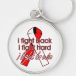 Oral Cancer I Fight Back Keychains