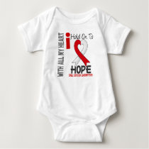 Oral Cancer I Hold On To Hope Baby Bodysuit