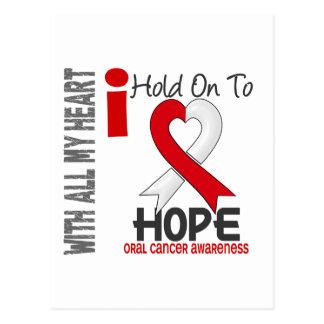 Oral Cancer I Hold On To Hope Postcard