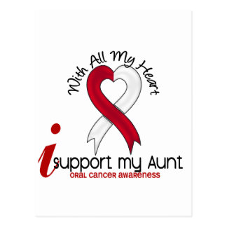 ORAL CANCER I Support My Aunt Postcard