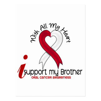ORAL CANCER I Support My Brother Postcard