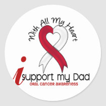 ORAL CANCER I Support My Dad Classic Round Sticker