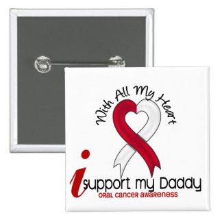 ORAL CANCER I Support My Daddy 2 Inch Square Button