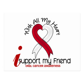 ORAL CANCER I Support My Friend Postcard