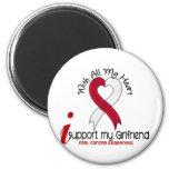 ORAL CANCER I Support My Girlfriend 2 Inch Round Magnet