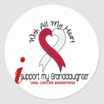 ORAL CANCER I Support My Granddaughter Classic Round Sticker