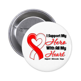 Oral Cancer I Support My Hero With All My Heart 2 Inch Round Button
