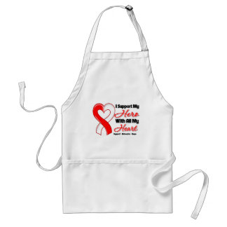 Oral Cancer I Support My Hero With All My Heart Adult Apron