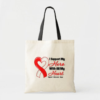 Oral Cancer I Support My Hero With All My Heart Budget Tote Bag