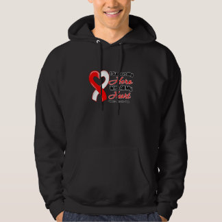 Oral Cancer I Support My Hero With All My Heart Hooded Pullovers
