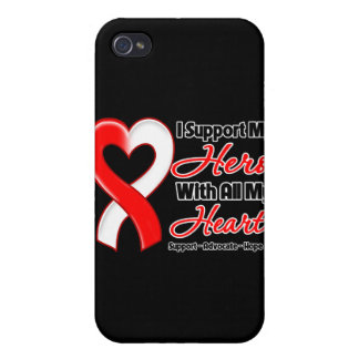 Oral Cancer I Support My Hero With All My Heart iPhone 4/4S Cases