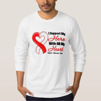 Oral Cancer I Support My Hero With All My Heart Shirts