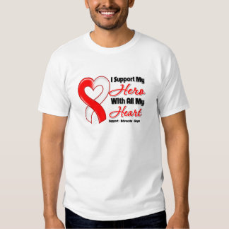 Oral Cancer I Support My Hero With All My Heart Tee Shirts