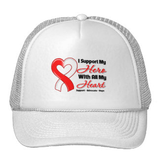Oral Cancer I Support My Hero With All My Heart Trucker Hat