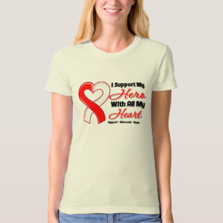 Oral Cancer I Support My Hero With All My Heart Tshirt