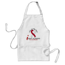 ORAL CANCER I Support My Husband Adult Apron