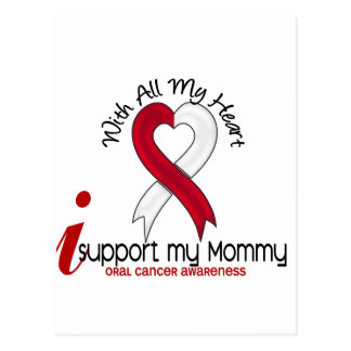 ORAL CANCER I Support My Mommy Postcard