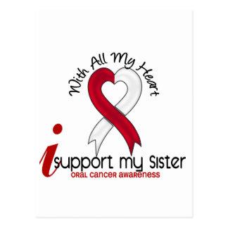 ORAL CANCER I Support My Sister Postcard