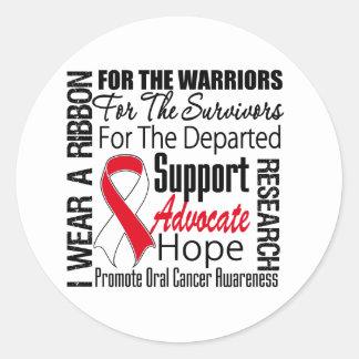 Oral Cancer I Wear a Ribbon TRIBUTE Classic Round Sticker