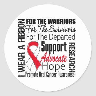 Oral Cancer I Wear a Ribbon TRIBUTE Stickers