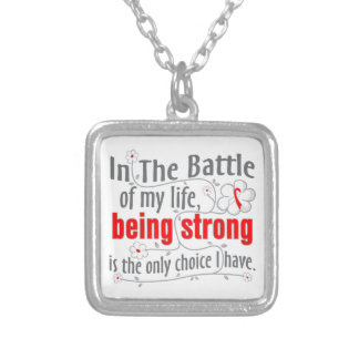 Oral Cancer In The Battle Custom Necklace