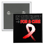 Oral Cancer In The Fight For a Cure 2 Inch Square Button