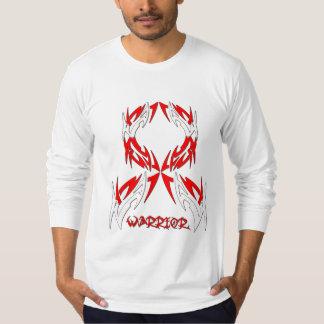 Oral Cancer Mens Warrior Tribal T-shirt