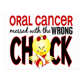 Oral Cancer Messed With The Wrong Chick Postcard