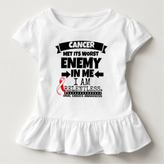 Oral Cancer Met Its Worst Enemy in Me Toddler T-shirt