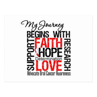 Oral Cancer My Journey Begins With Faith Postcard