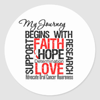 Oral Cancer My Journey Begins With Faith Stickers