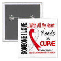 Oral Cancer Needs A Cure 3 Pinback Button