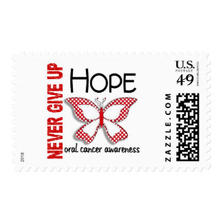 Oral Cancer Never Give Up Hope Butterfly 4.1 Stamps