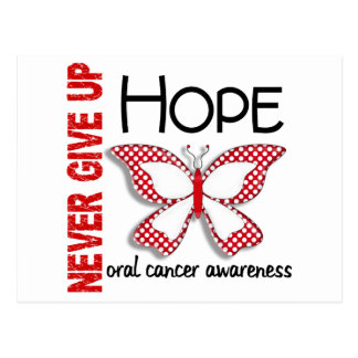Oral Cancer Never Give Up Hope Butterfly 4.1 Postcard
