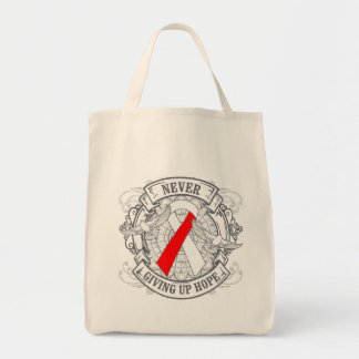 Oral Cancer Never Giving Up Hope Grocery Tote Bag
