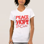 Oral Cancer Peace Love Cure Shirt