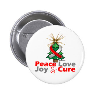 Oral Cancer Peace Love Joy Cure Buttons