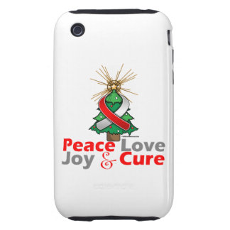 Oral Cancer Peace Love Joy Cure Tough iPhone 3 Case