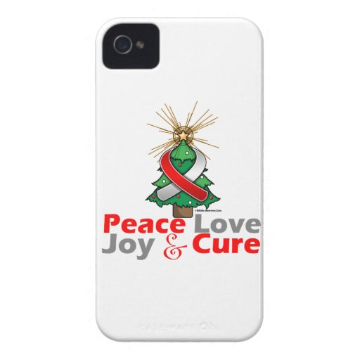 Oral Cancer Peace Love Joy Cure Case-Mate iPhone 4 Cases