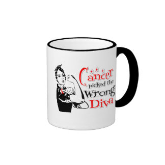 Oral Cancer Picked The Wrong Diva Coffee Mug