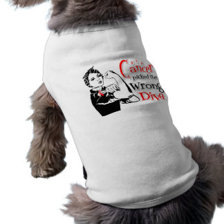 Oral Cancer Picked The Wrong Diva Doggie Tshirt