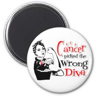 Oral Cancer Picked The Wrong Diva Fridge Magnet