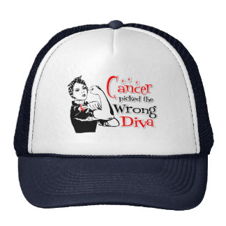 Oral Cancer Picked The Wrong Diva Mesh Hat