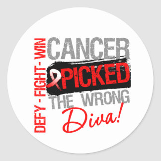 Oral Cancer Picked The Wrong Diva Stickers