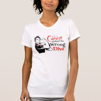 Oral Cancer Picked The Wrong Diva T-shirt
