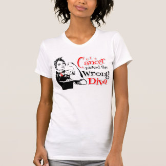 Oral Cancer Picked The Wrong Diva T-shirts