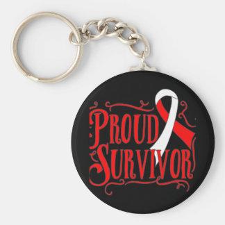Oral Cancer Proud Survivor Key Chains