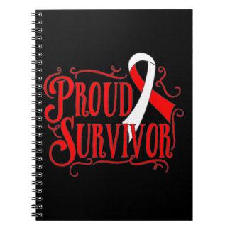 Oral Cancer Proud Survivor Spiral Notebook