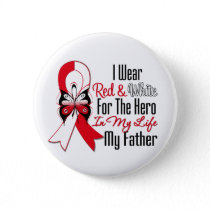 Oral Cancer Ribbon Hero My Father Button