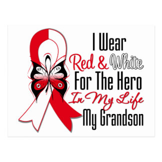 Oral Cancer Ribbon Hero My Grandson Post Card